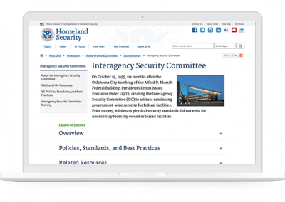 Interagency Security Committee – DHS