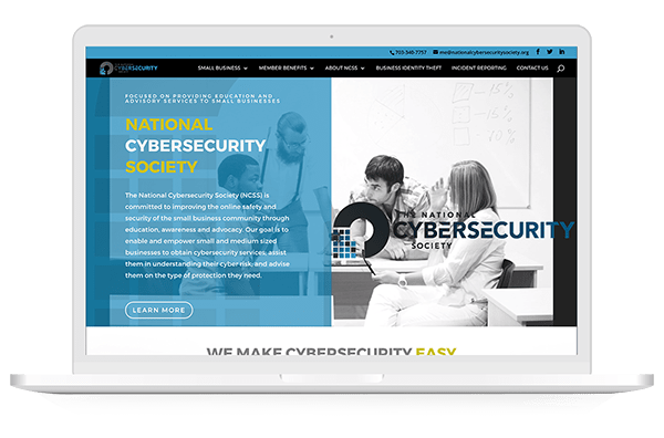 National Cybersecurity Society website screen shot