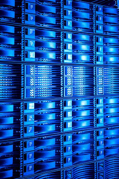 Data Center in Blue