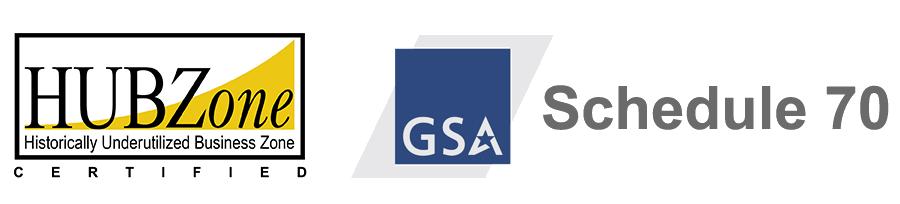 HUB Zone - GSA logos