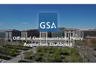 GSA Office of Governmentwide Policy Acquisition Dashboard