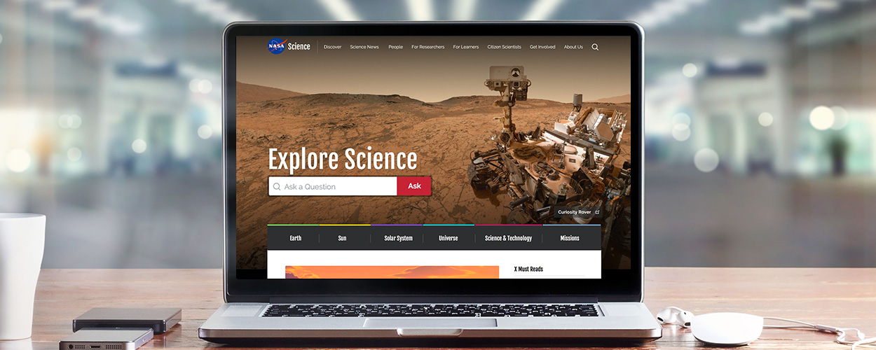 NASA.Science Homepage foreground